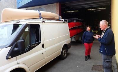 Esquif-Canadier - Besuch in Frankreich bei Canoe Diffusion, verantwortlich für den Import
