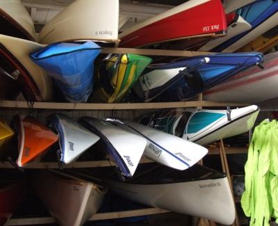 Bootslager der Kanuschule-MiSchaKu
