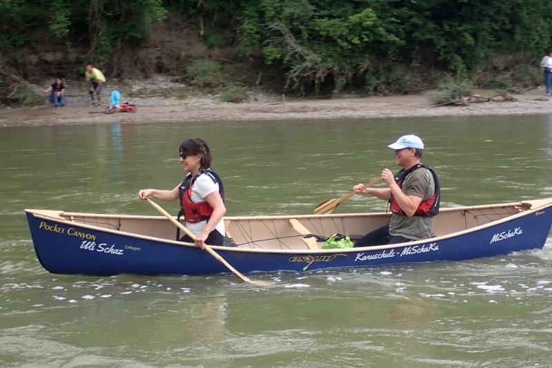 Grundkurs-Canadier-Kanuschule-MiSchaKu-Tandem-Fluß