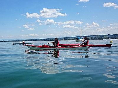 Bild: Seekajaks auf Tour am Bodensee